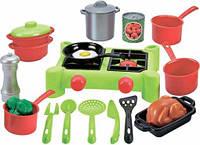 Игровой набор Плита и посуда 21 предмет Ecoiffier 2649