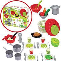 Большой игровой набор посуды с овощами для салата Chef-Cook  47 предметов Ecoiffier 2621
