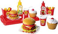 Игровой Набор продуктов Французский бургер 25 предметов Ecoiffier 2623