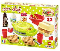 Игровой набор Вафельница 22 предмета Ecoiffier 2631