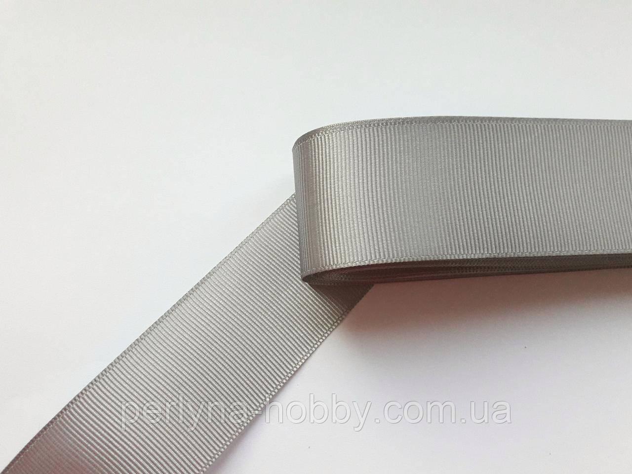 Стрічка репсова 40 мм, сіра №44. Туреччина