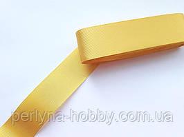 Тасьма репсова стрічка широка Стрічка репсова 4 см 40 мм, жовта № 86. Туреччина