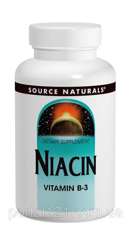 Ниацин (В3) 100мг, Source Naturals, 250 таблеток