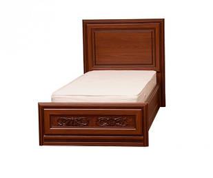 Ліжко з ДСП/МДФ в спальню 1-сп (б/матрасу, та каркаса) Лаціо темний прованс Світ Меблів
