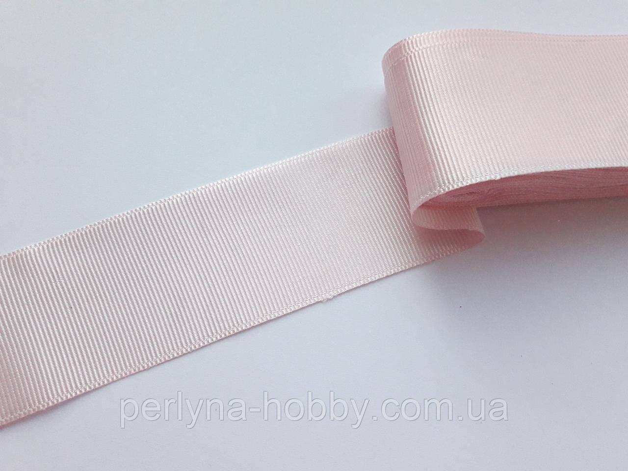 Стрічка репсова 40 мм, ніжно-рожева № 16. Туреччина