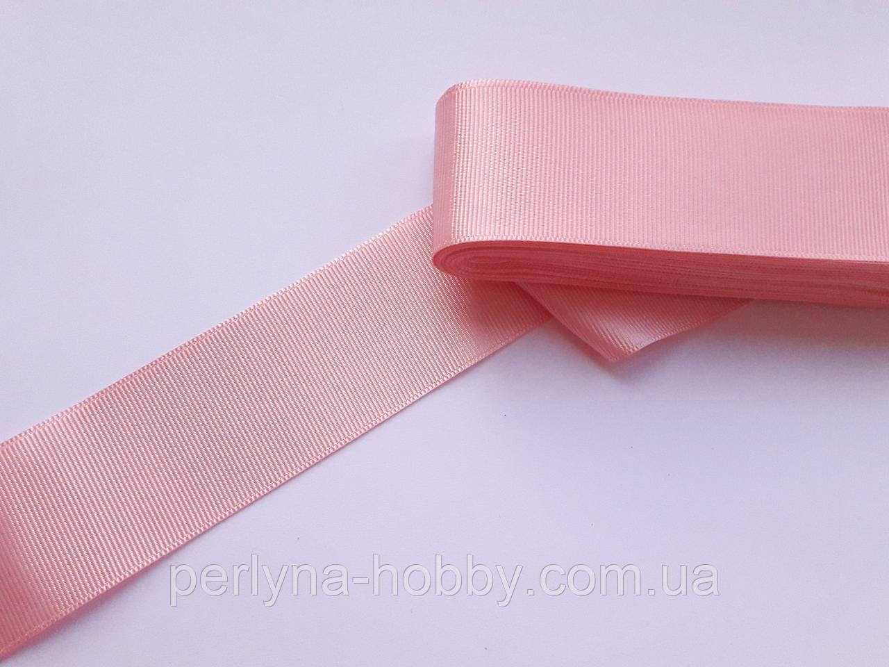 Стрічка репсова 40 мм, рожева № 19. Туреччина