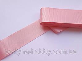 Тасьма репсова стрічка широка Стрічка репсова 4см 40 мм, рожева № 19. Туреччина