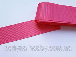 Тасьма репсова стрічка широка Стрічка репсова 4 см 40 мм, темно-рожева, малінова № 22. Туреччина