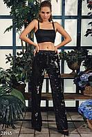 Праздничные брюки с пайетками S M , фото 1