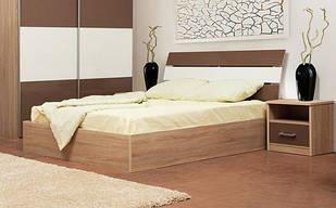 Ліжко з ДСП/МДФ в спальню 2-сп (б/матрасу) Елегант Світ Меблів
