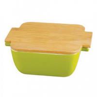 Форма для запекания керамическая с бамбуковой крышкой Besser