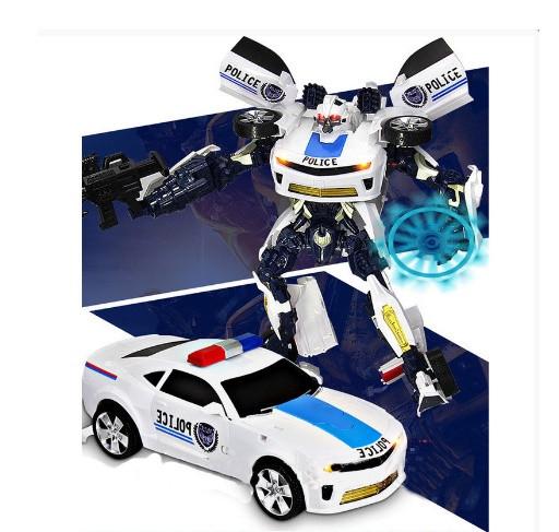 Трансформер робот Полиция 4129, свет, звук