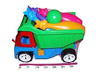 Детская машина грузовик с кеглями