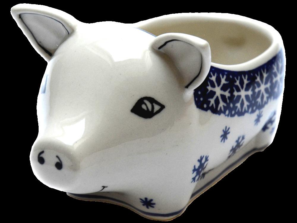 Керамическая форма Свинка для соусов и дипов W