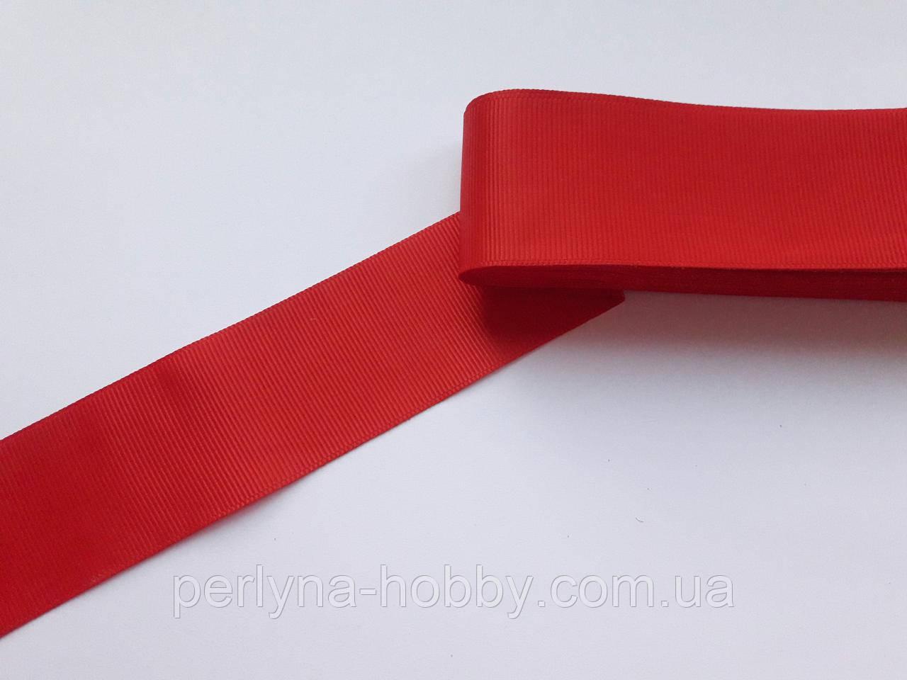 Стрічка репсова 40 мм, червона яскрава. Туреччина