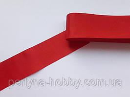 Тасьма репсова стрічка широка Стрічка репсова 4 см 40 мм, червона яскрава. Туреччина