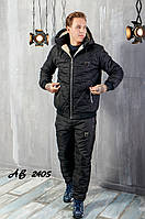 Тёплый зимний спортивный мужской костюм PHILIP PLEIN штаны куртка на овчине чёрный 48 50 52 54 56 58