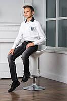 Элегантные Стильные Джинсы Для Мальчиков Серого Цвета С Модными Потертостями Aston Martin Италия.