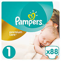 Подгузники Pampers Premium Care New Born 1(2-5 кг) Econom Pack 88 шт.