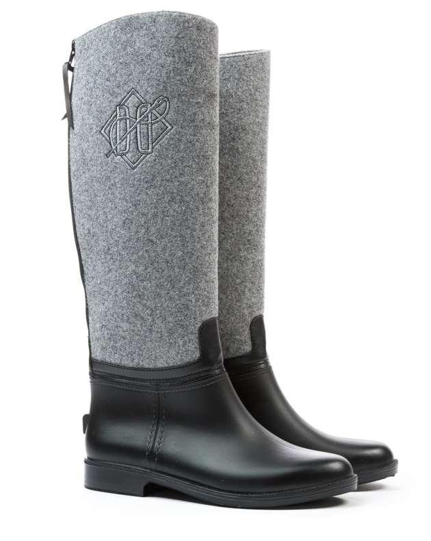 Оригинальные Сапоги женские AW18 DEVERGO DE-MI2506RU 18FW DERBY Black/Grey Черно/Серые Зима