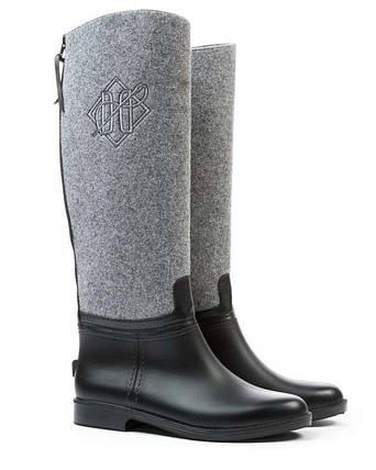 Оригинальные Сапоги женские AW18 DEVERGO DE-MI2506RU 18FW DERBY Black/Grey Черно/Серые Зима, фото 2
