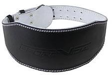 Пояс для тяжелой атлетики с экокожи SportVida SV-AG0066 (M) Black, фото 3