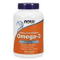Витамины омега 3 NowOmega-3 1000mg (200 капсул.)