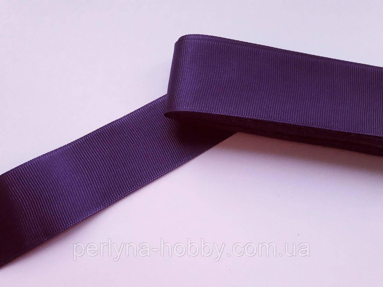 Тесьма лента репсовая широкая Стрічка репсова  4 см 40 мм, фіолетова №37. Туреччина