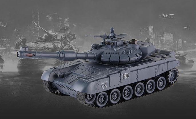 Танк Т-90 на радіокеруванні 99801, масштаб 1:28, танковий бій
