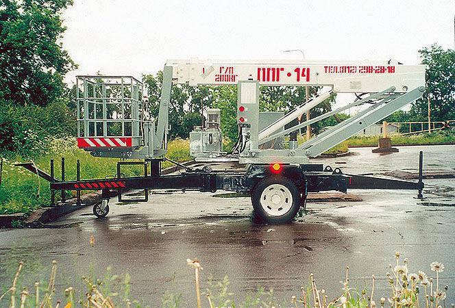 Подъемник телескопический Подъемные машины ППГ-14, фото 2