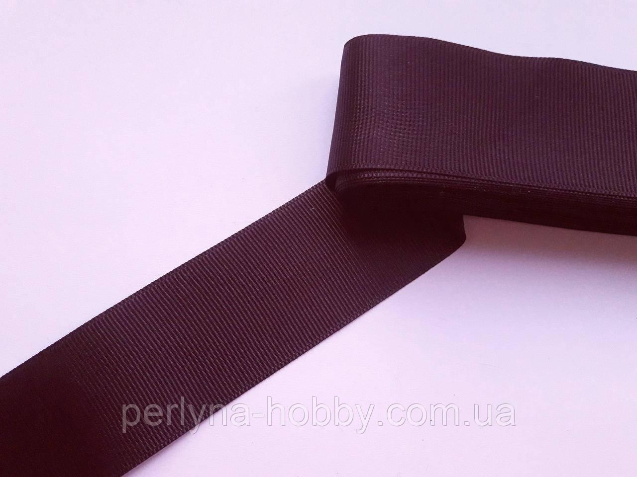 Тесьма лента репсовая широкая Стрічка репсова 4 см 40 мм, темно-фіолетова, сливова №39. Туреччина