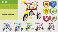 """Велосипед 3-х колес 0202 (6 шт) """"Малютка"""", 6 цветов, гвоздик"""