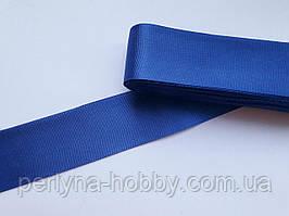 Тесьма лента репсовая широкая Стрічка репсова 4 см 40 мм, синя №96. Туреччина