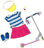 Набор одежды для кукол Deluxe с самокатом и аксессуарами, Our Generation (BD30200Z)