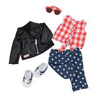 Набор одежды для кукол Deluxe Стильный кожаный жакет, Our Generation (BD60031Z)