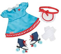 Набор одежды для кукол Платье и ролики, Our Generation (BD60013Z)