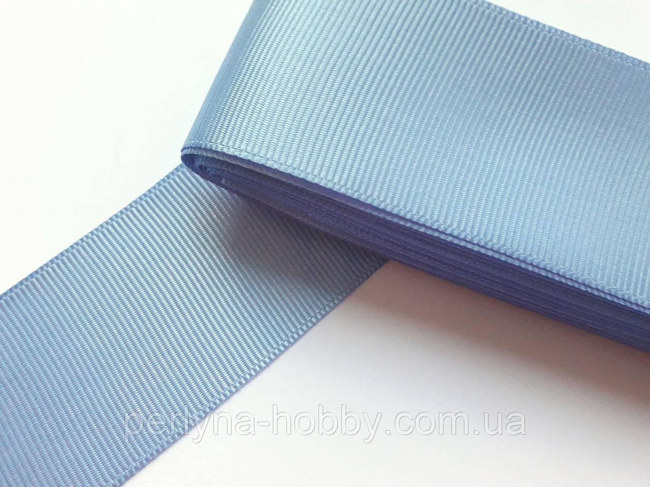 Стрічка репсова 40 мм, голуба №93. Туреччина