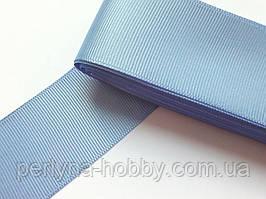Тесьма лента репсовая широкая Стрічка репсова 4см 40 мм, голуба №93. Туреччина