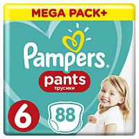 Подгузники-трусики Pampers Pants Extra Large 6 (16+ кг) Mega Pack, 88 шт