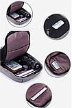 Сумка-рюкзак в стилі Bobby синя, фото 3