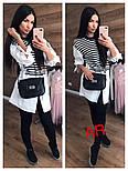 Женская рубашка-туника верх вязка, низ х/б (3 цвета), фото 3