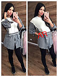 Женская рубашка-туника верх вязка, низ х/б (3 цвета), фото 2