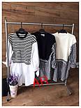 Женская рубашка-туника верх вязка, низ х/б (3 цвета), фото 8
