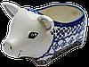 Керамическая форма Свинка для соусов и дипов G