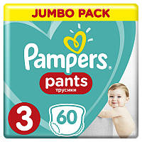 Подгузники-трусики Pampers Pants Midi 3 (6-11 кг) Jumbo Pack, 60 шт., фото 1