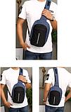 Сумка-рюкзак в стилі Bobby синя, фото 2
