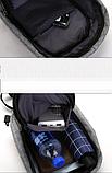 Сумка-рюкзак в стилі Bobby синя, фото 4