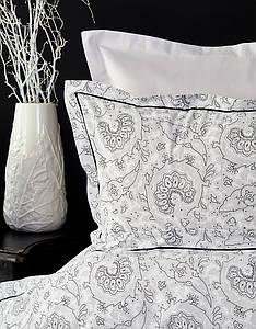 Набор постельного белья с пледом Karaca Home Tierra siyah черное евро
