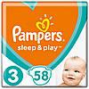 Підгузники Pampers Sleep&Play Midi 3 (4-9 кг) Ekonom Pack 58 шт