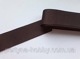 Тесьма лента репсовая широкая Стрічка репсова 4 см 40 мм, коричнева № 14. Туреччина
